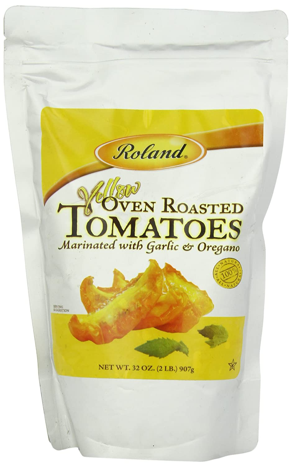 Roland Oven Roasted Tomatoes, Yellow, 32 Ounce