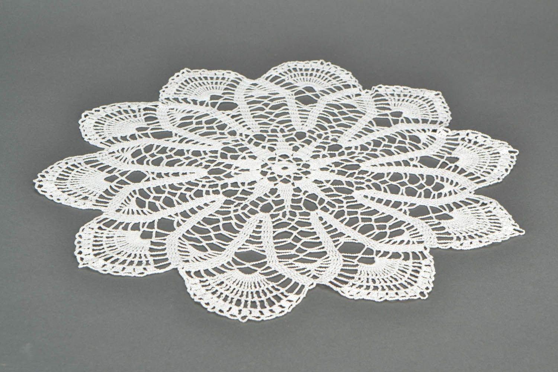 ホワイトかぎ針編み内部ナプキン   B00QAL1KQQ