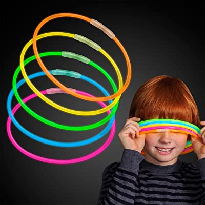 "50 Premium 22"" Glow Stick Glow Necklaces - Assorted Color Mix: Toys & Games"