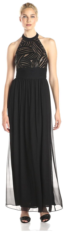 JS Boutique Women's Sequined Halter Dress