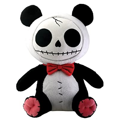 SUMMIT COLLECTION Furrybones Panda Bear Pandie Wearing Red Bow Tie Plush Doll: Home & Kitchen