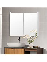 TANGKULA Mirrored Bathroom Cabinet ...