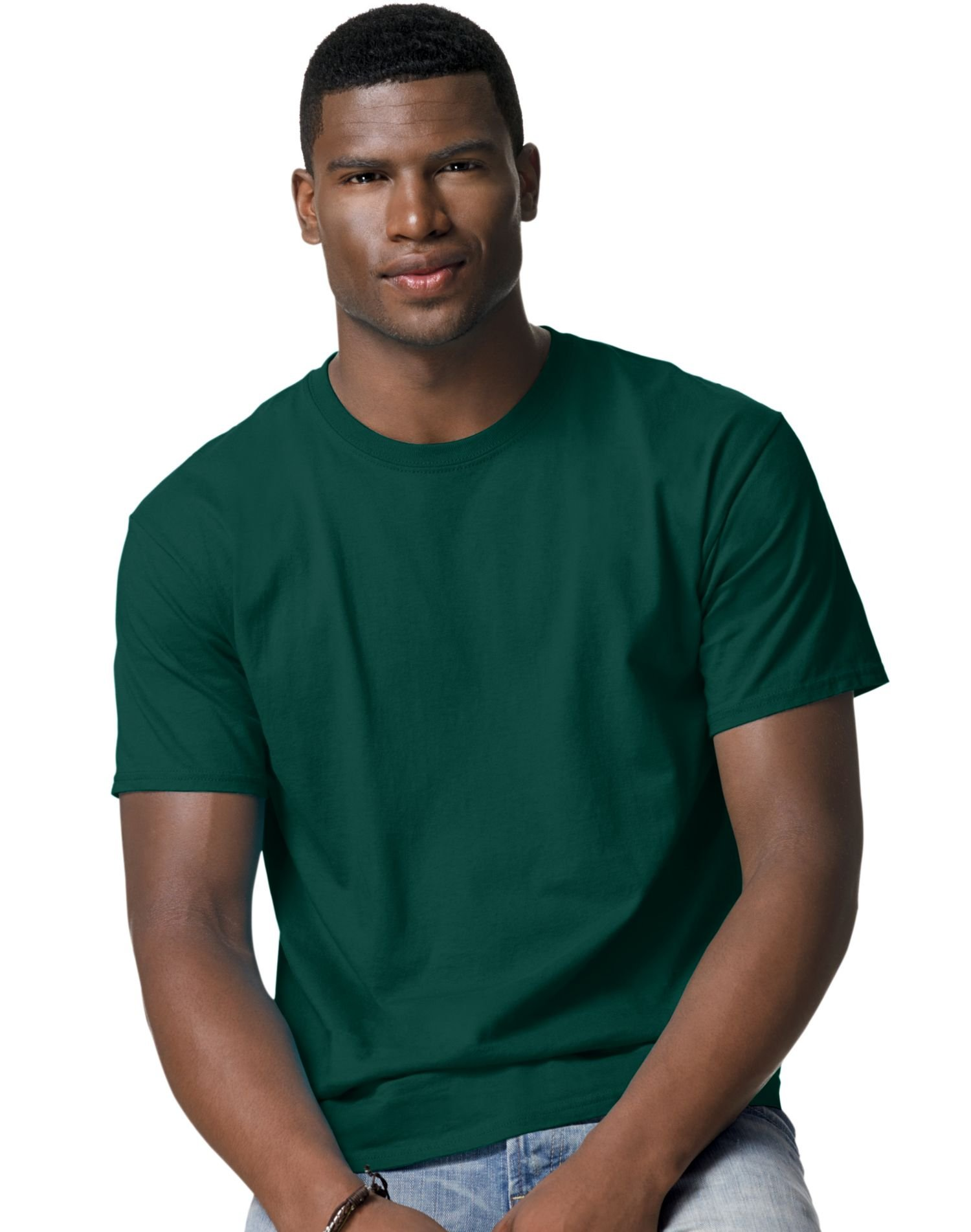 Hanes TAGLESS T-Shirt, XXXXX-Large, Deep Forest by Hanes