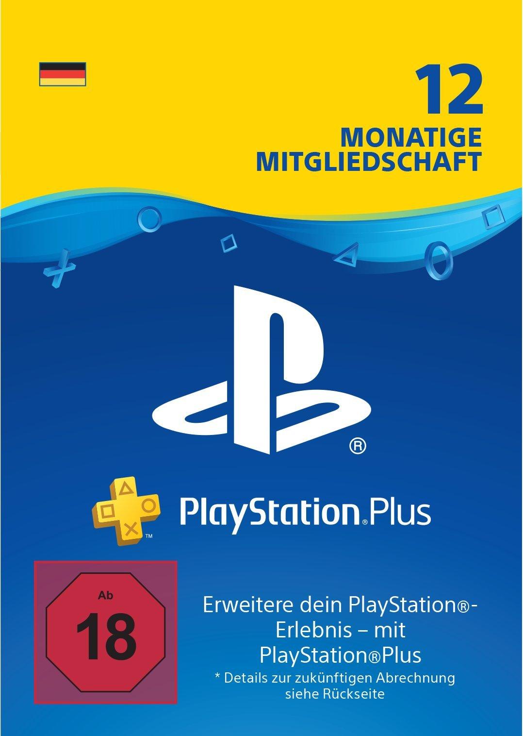 PlayStation Plus Mitgliedschaft | 12 Monate | deutsches Konto | PS4 Download Code product image