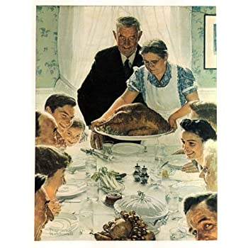 Amazon.com: Norman Rockwell Freedom From Want 1943 Art