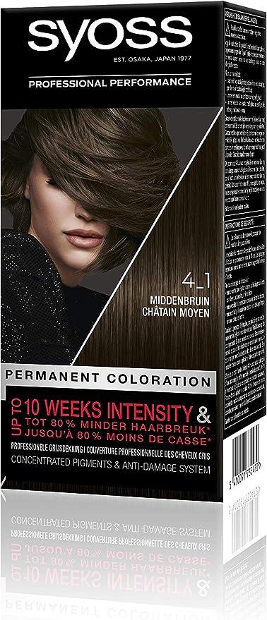 Syoss Color Baseline 4-1 Middenbruin Hair - Tinte para ...