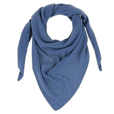 3c5f9c8b2be49 Les Poulettes Bijoux Echarpe 100% Cachemire 2 Fils Triangle Colors - Bleu  Navy