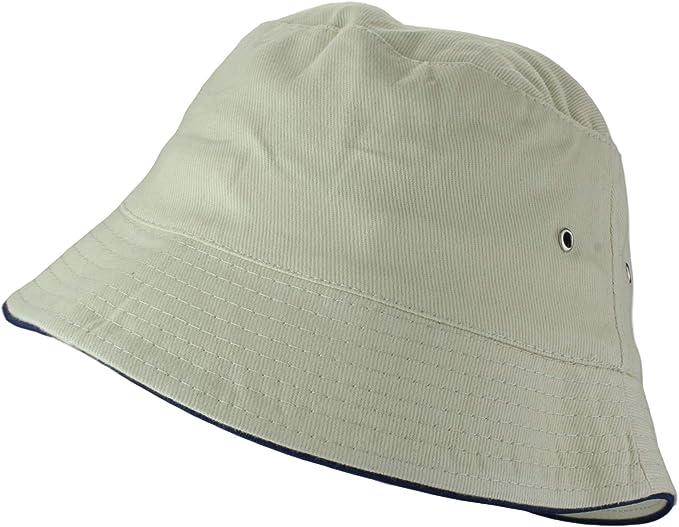 2Store24 Sombrero para el sol 100% algodón sombrero de pescador ...