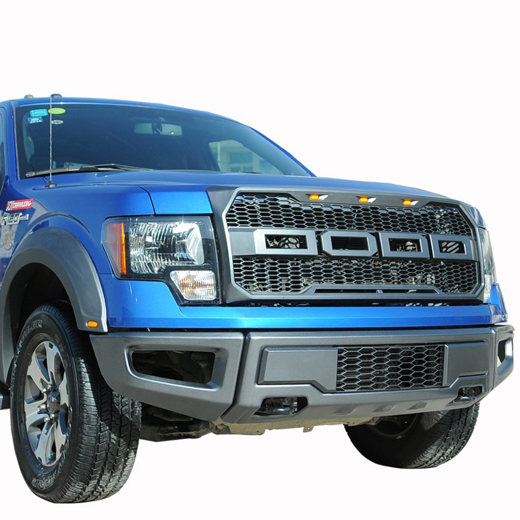 amazoncom paramount restyling 41 0158 raptor style packaged grille 09 14 ford f 150 automotive