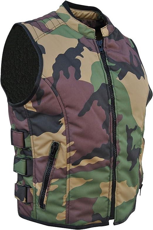 Textile Biker Vest Camouflage 3XL