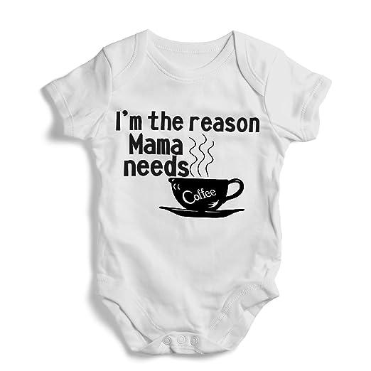 f7eb82645 Amazon.com: I'm the reason mama needs coffee - Onesie, Funny, Humor ...
