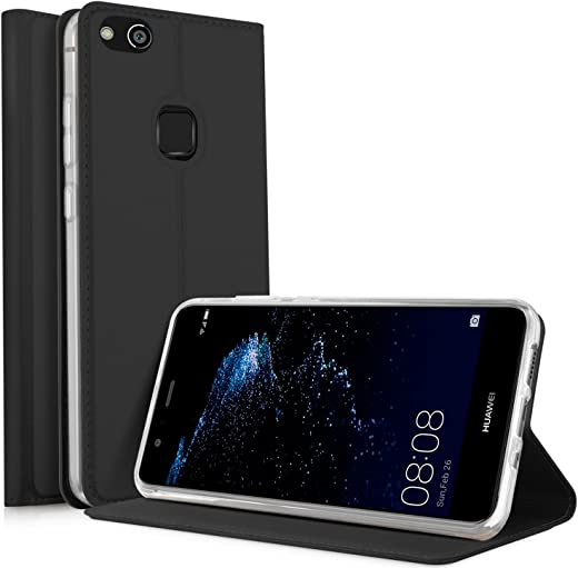 Huawei P10 Lite Flip Cover iBetter Huawei P10 Lite Super Slim Perfect Fit Premium Hard Protettiva Custodia per Huawei P10 Lite-Nero