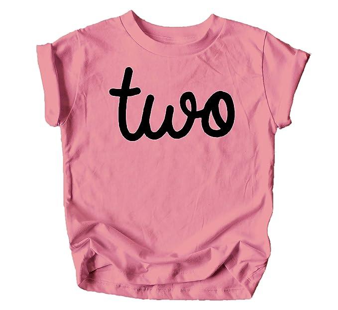 Amazon.com: Olive Loves - Camiseta de 2 cumpleaños para niña ...