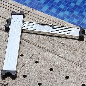 cedarfiny - Escalera Antideslizante para Piscina (Acero Inoxidable): Amazon.es: Hogar