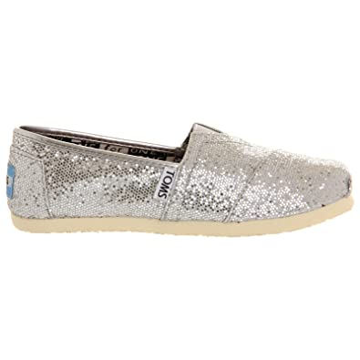 05b2ea393fb Image Unavailable. Image not available for. Color: Toms Youth Classic  Glitter Shoes ...