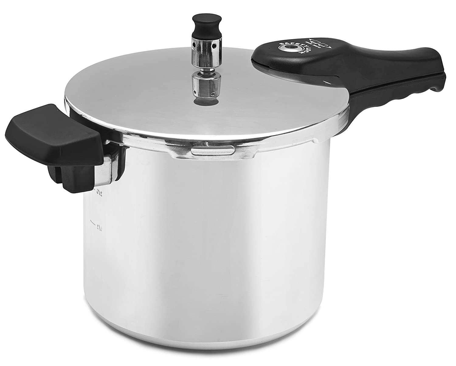 Amazon.com: Cook Prep Eat 6 quart Pressure Cooker with Safety Features, Medium, Stovetop Pressure Cooker Express, Natural Aluminum, Silver: Kitchen & Dining