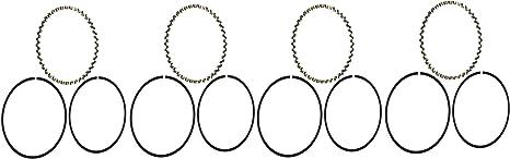 Hastings 2C7742 2-Cylinder Piston Ring Set