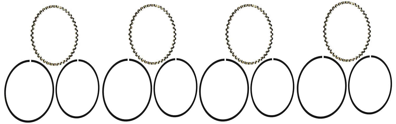 Hastings 2C7581 4-Cylinder Piston Ring Set