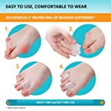 Toe Separators Hammer Toe Straightener - 4-Pack Big Toe Spacers - Gel Spreader - Correct Crooked Toes - Bunion Corrector and Bunion Relief - Pads for Overlapping, Hallux Valgus, Diabetic Feet, Yoga