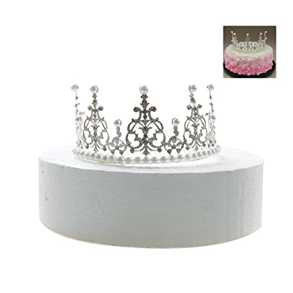 Amazon Com Gisiny Silver Crown Cake Topper For Girls Kids Princess