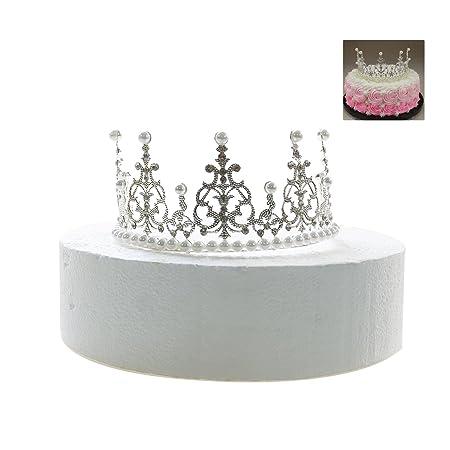 Gisiny Silber Krone Tortenaufsatz Fur Madchen Prinzessin Geburtstag