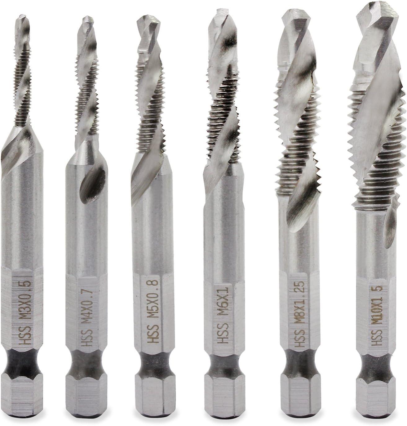 Premium M6 HSS Right Hand Machine Tap Spiral Screw Tap Threading Tool