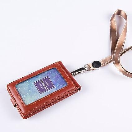 Lanyard - Soporte para tarjeta de crédito, de piel, para ...