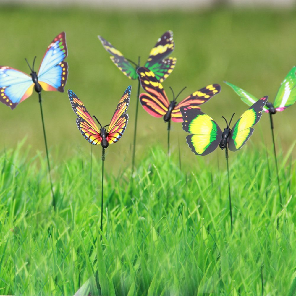 Amazon.com : LeBeila Butterfly Garden Ornaments & Patio Décor ...