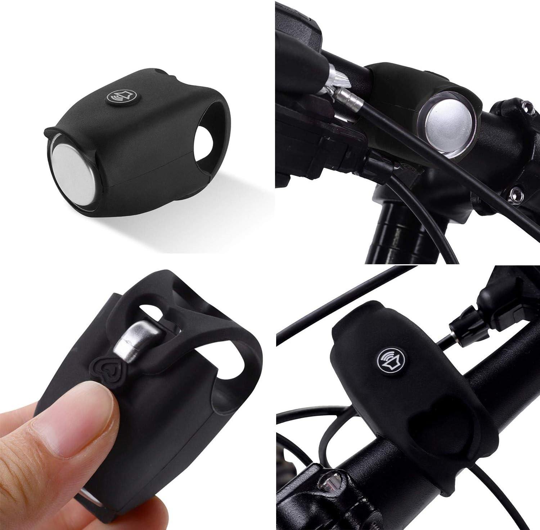 Klaxon de v/élo /électrique chargement USB accessoires d/équipement d/équitation de cloche de v/élo /électronique universels pour divers types de v/élos klaxon velo sonnette velo
