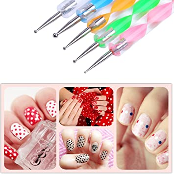 Amazon Chictry 5pcs 2 Way Double Ended Dotting Pen Nail Art