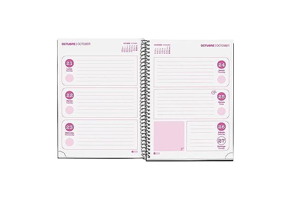 Jordi Labanda 270035 - Agenda escolar plus, 155 x 215 mm, semana a la vista, diseño kawaii
