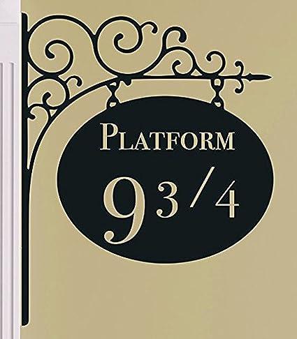 Pegatina Para Pared Harry Potter Plataforma 9 3/4 Kings Cross Película Libro Vinil Arte