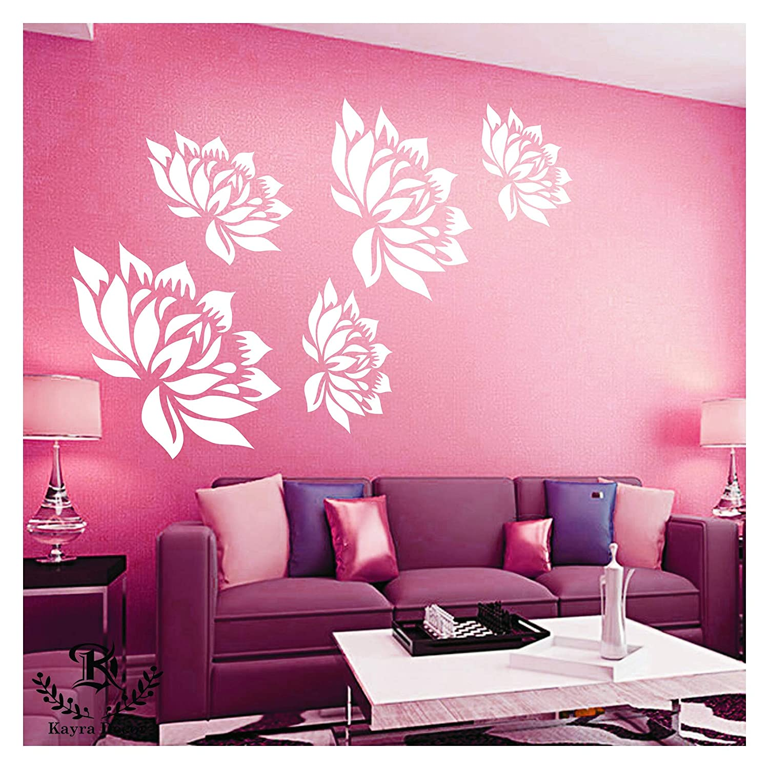 Kayra Decor Reusable DIY Wall Stencil Painting for Home Decoration (PVC,  16-inch x 24-inch)