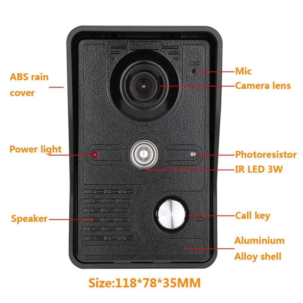 Awakingdemi 7 Inch Video Door Phone Doorbell Intercom 1-camera 1-monitor Night Vision by Awakingdemi (Image #6)