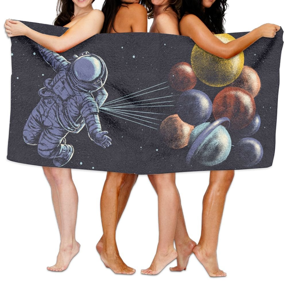 KTMB Fly Through Solar System Washable Extra Large Bath Beach Towel Soft Personality Towel
