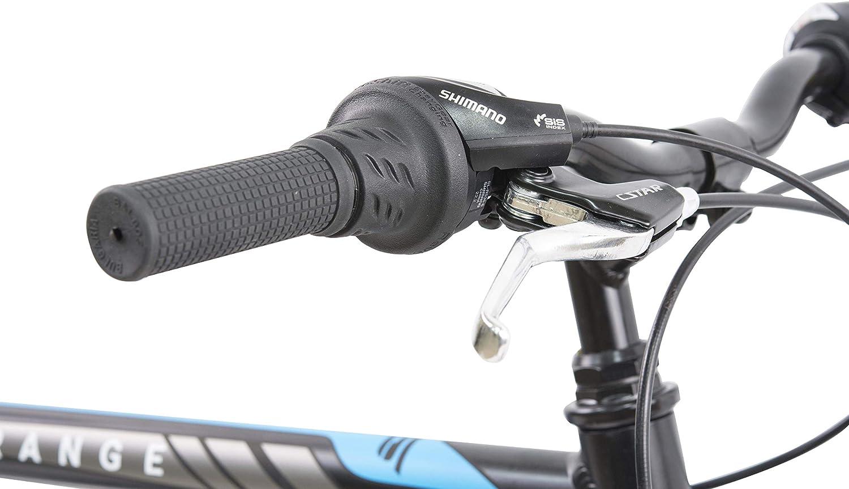 Adulto Unisex 26 Azul Negro F.lli Schiano Rover Bicicleta de Doble suspensi/ón