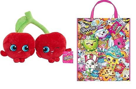 Shopkins U201cCHEEKY CHERRIES U201c 12 Inch Stuffed Plush Character + Shopkins Tote  Bag ○ GIFT