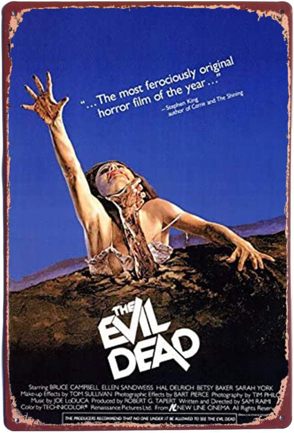 Tin Sign,The Evil Dead Movie Sign Vintage Metal Tin Sign Wall Decor 7.8 X 11.8 inch