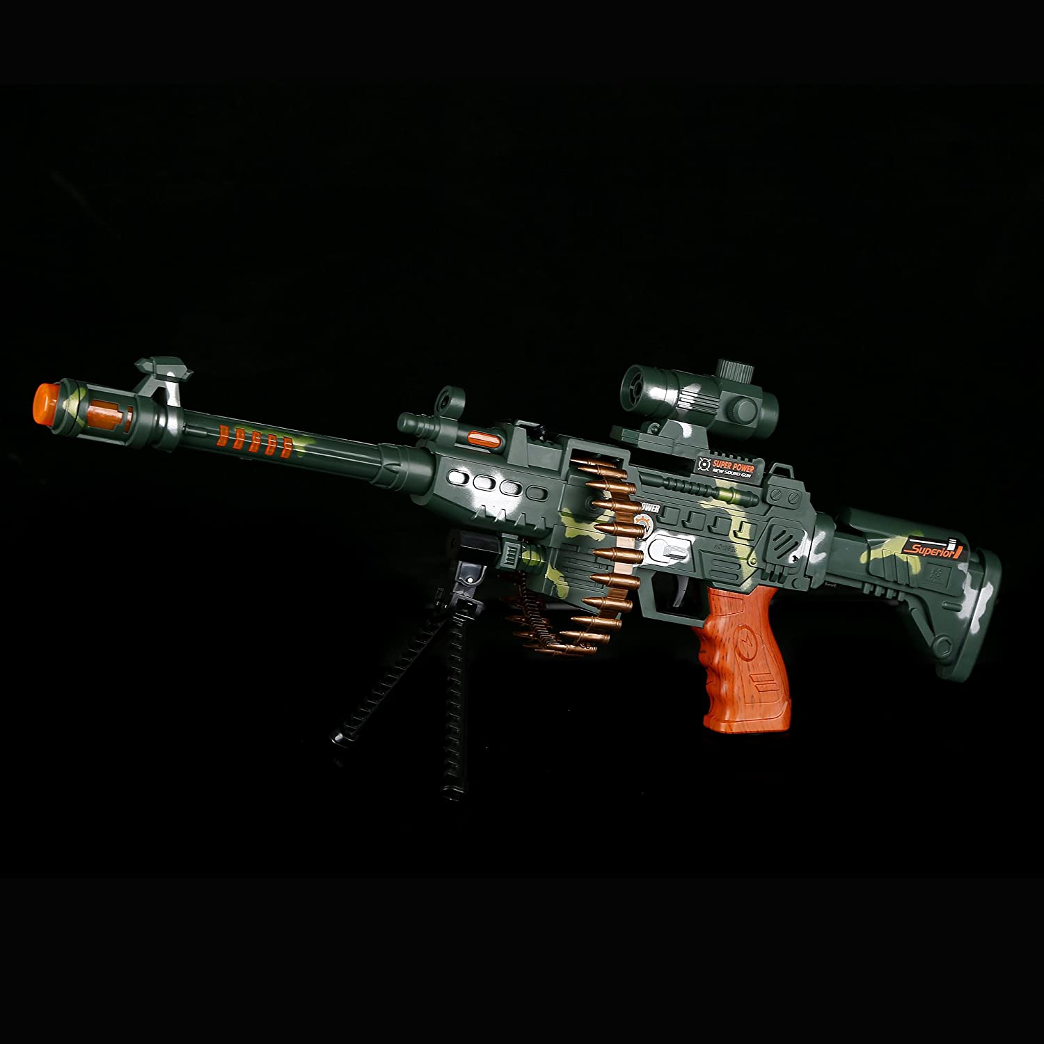 Gifts Rewards LED Camo Sniper Rifle Prizes for Party Favors Fun Central AT754 LED Camo Sniper Rifle LED Light Up Rifle Kids LED Rifle