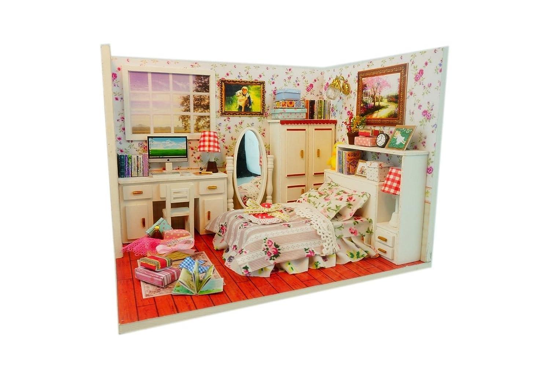 Amazon.com: Kits Wood Dollhouse Miniature DIY House Room ...