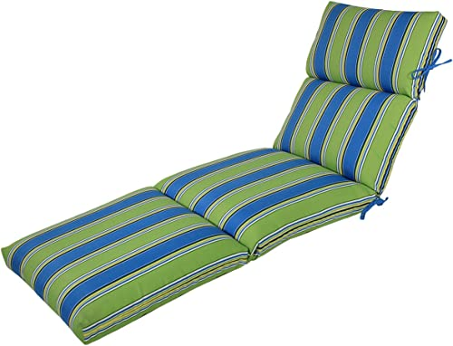 Comfort Classics Inc. 22W x 72L x 5H Hinge at 26″ Spun Polyester Outdoor CHANNELED Reversible Chaise Cushion