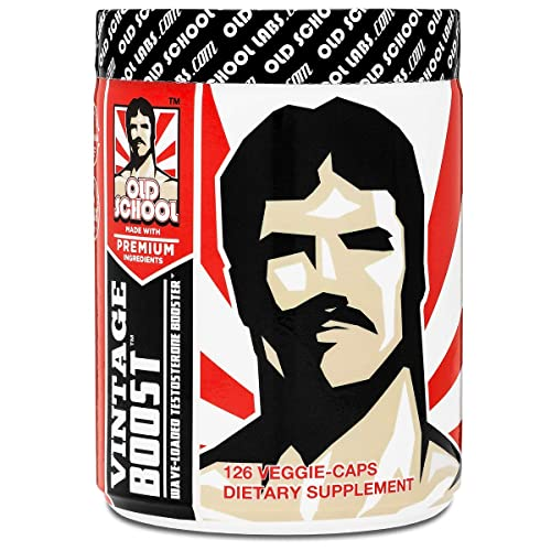 VINTAGE BOOST Testosterone Booster - Wave-Loaded Natural Stamina Booster Testosterone Supplement - Fast-Acting