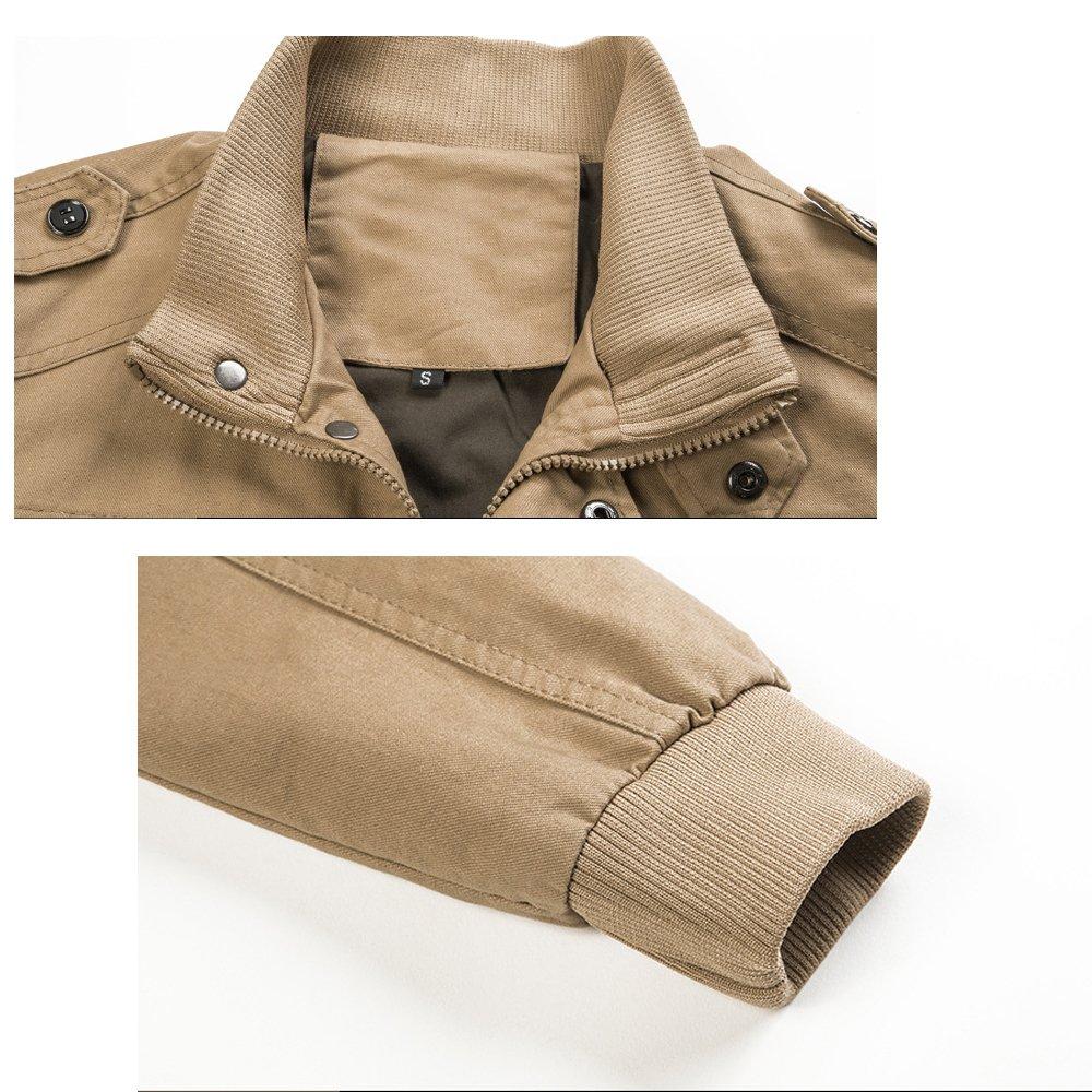 Xinga Mens Casual Outdoor Autumn Spring Cotton Jacket Bomber Jacket Pilot Jacket Coat Outerwear