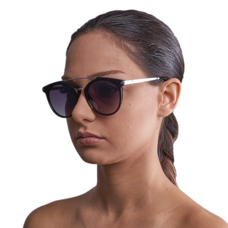 Guess tour des lunettes de soleil double pont en gris noir brillant GU7532  01B 52 Guess 4765dc553d11