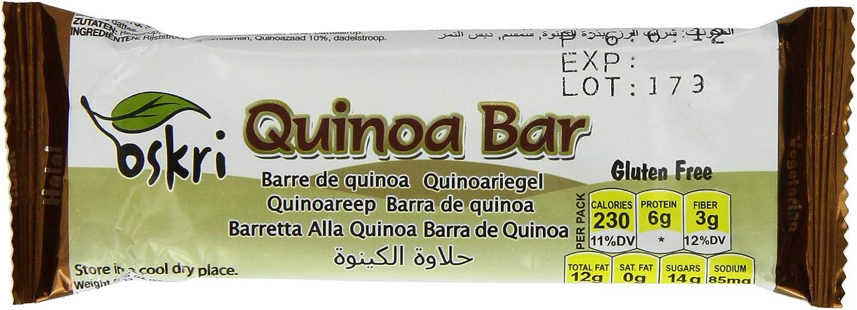 Oskri Organic Quinoa Bar 53 g (Paquete de 18): Amazon.es ...