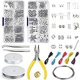 FEPITO Sieraden Maken Kit Sieraden Zoeken Starter Gereedschap Kit met Tang voor Sieraden Maken Reparatie DIY Craft Supplies