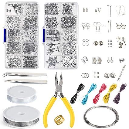 d6ec62daadad FEPITO Kit di creazione di gioielli Kit di strumenti per la creazione di  gioielli con pinze e pinze per la riparazione di gioielli: Amazon.it: Fai  da te