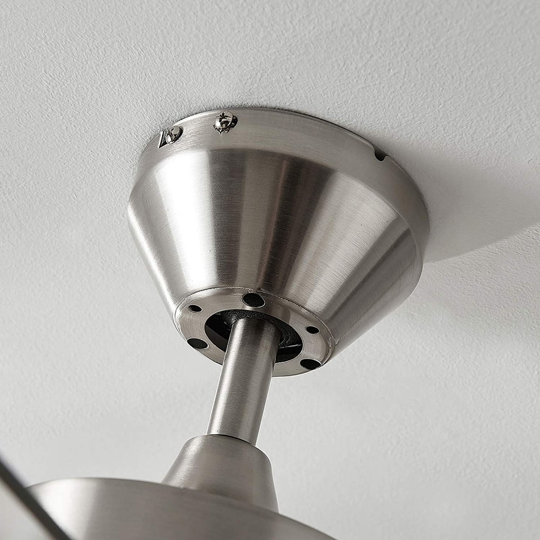 de LAMPENWELT  Ventilador Moderno para Dormitorio Ventilador de techo con l/ámpara Ante 1 llama, E27, A++ en Gris hecho de Madera e.o