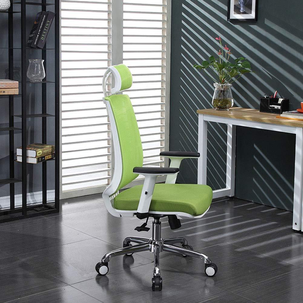 オフィス回転チェア、背もたれスツールスタッフアームレストチェアメッシュシート360度回転調節可能なシート高さレバー演算子椅子人間工学的コンセプト耐久性と安定   B07KQLQF3F