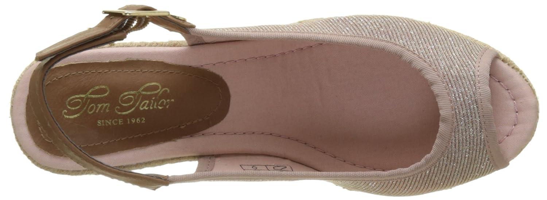 TOM TAILOR Damen Damen Damen 2790902 Slingback Sandalen Pink (Old Rose 01689) 4323c5